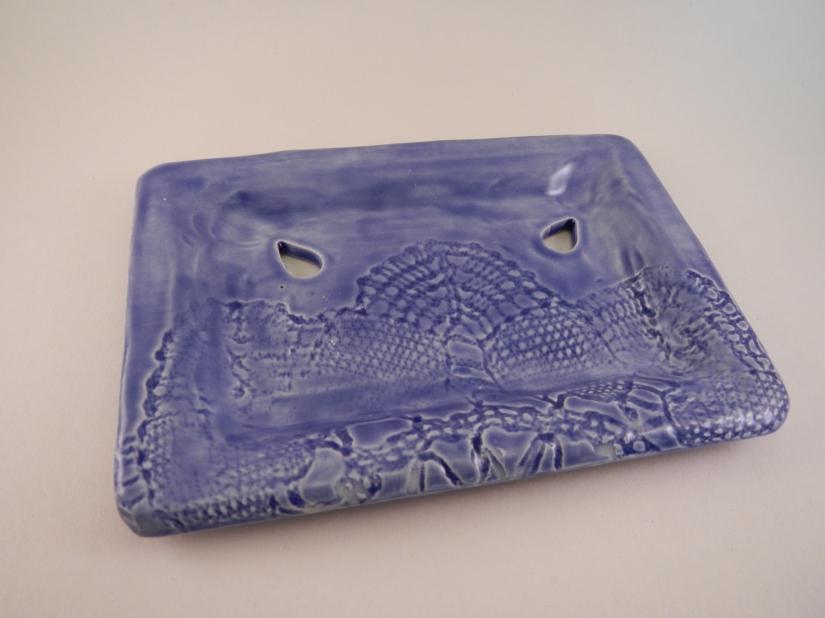 Blue Lace Soap Dish